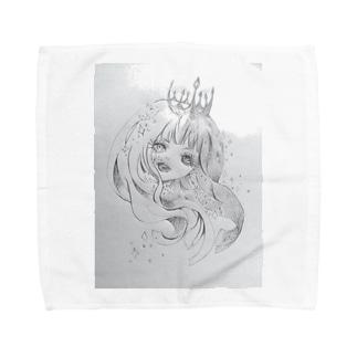 キラキラ女の子 Towel handkerchiefs