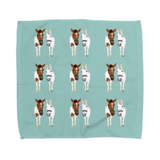 チビスケ&シロちゃんなかよしタオルハンカチ Towel handkerchiefs