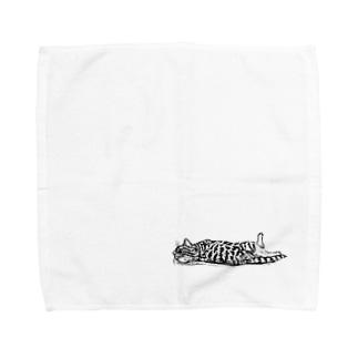 【ごろん猫】 Towel handkerchiefs