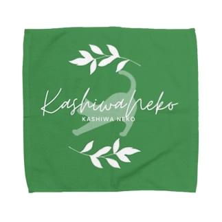 柏猫ロゴ Towel handkerchiefs