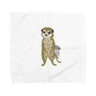 ミーアキャットのふたり Towel handkerchiefs