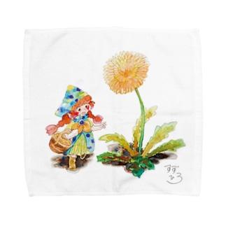 すずひろショップSUZURI店のピクニックに向かうティナ Towel handkerchiefs