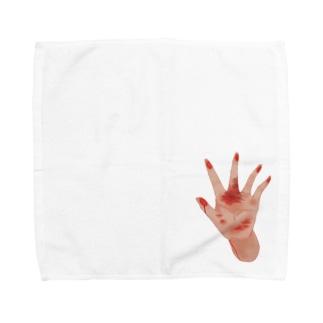 なにか見えてる? Towel handkerchiefs