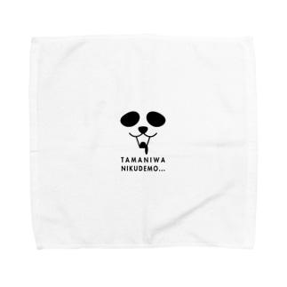 ぱんだフェイス Towel handkerchiefs