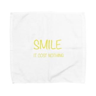 Smile ロゴ Towel handkerchiefs