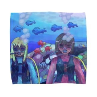 バディとスキューバダイビング Towel handkerchiefs