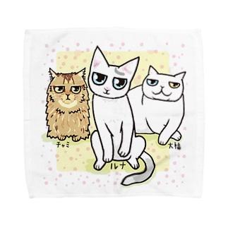 3にゃん♪ Towel handkerchiefs
