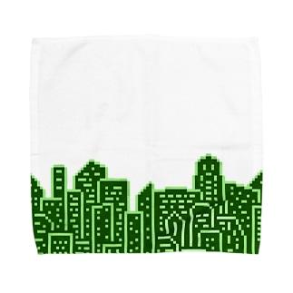 Buildings 緑 Towel handkerchiefs