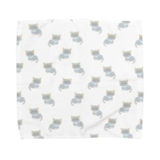 manyニャンyellow Towel handkerchiefs