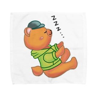 ねむたくて倒れそう Towel handkerchiefs