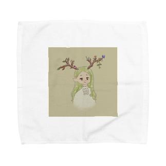 エルフ鹿ちゃん Towel handkerchiefs