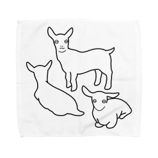 こやぎ三兄弟 Towel handkerchiefs