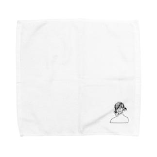 白い紫陽花の花言葉 #3 Towel handkerchiefs