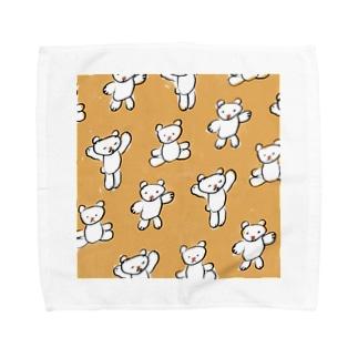 くまのくーちゃん Towel handkerchiefs