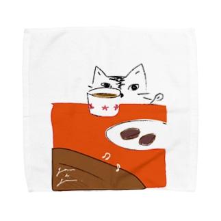 猫とブラウニー Towel handkerchiefs