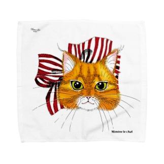 ミミンヌのタオル Towel handkerchiefs
