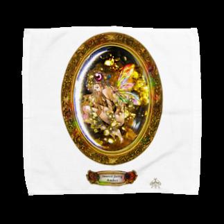 ∞Secret Crystal Garden∞の妖精入り琥珀 Towel handkerchiefs