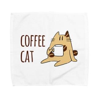 COFFEE CAT Towel handkerchiefs