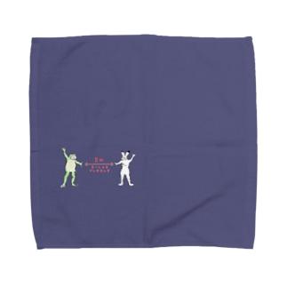そーしゃる でぃすたんす Towel handkerchiefs