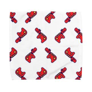 Akabeko Repeat 赤べこいっぱい Towel handkerchiefs