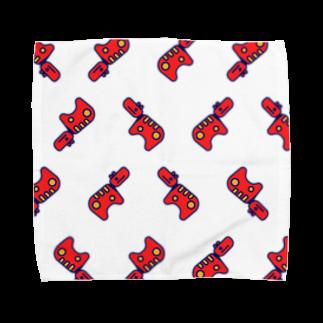 #akabekorのAkabeko Repeat 赤べこいっぱい Towel handkerchiefs
