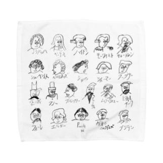 クラシック音楽家たち Towel handkerchiefs