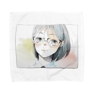 見てる(Ver.002) Towel Handkerchief
