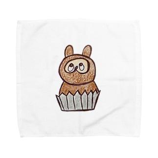 たぬきのケーキ Towel handkerchiefs