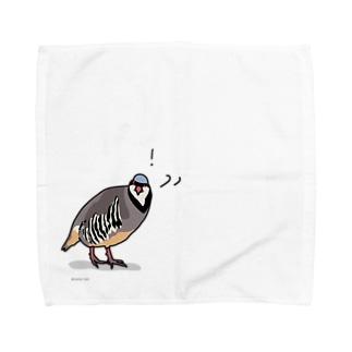驚くイワシャコ Towel handkerchiefs