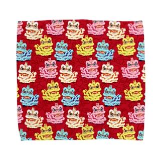 獅子舞パターン・タオルハンカチ Towel handkerchiefs