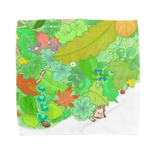 +kohの庭のハリネズミくん Towel Handkerchief