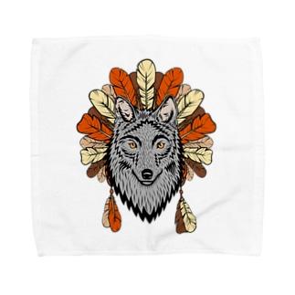 ネイティブ柄D Towel handkerchiefs