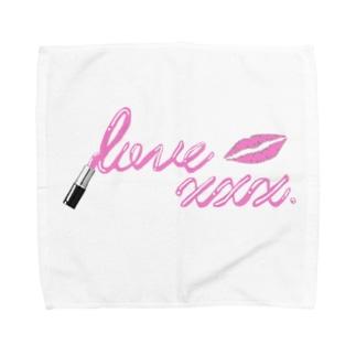 love  xxx.リップロゴ Towel handkerchiefs