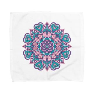 ボーホー柄A Towel handkerchiefs