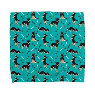 クロ青 Towel handkerchiefs