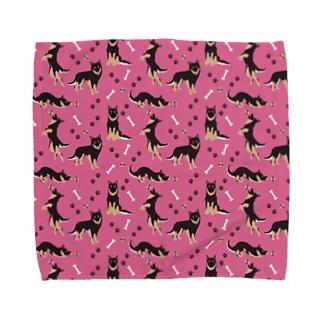 クロピンク Towel handkerchiefs