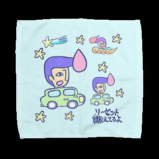 いーの!だめの?suzuri支店のリーゼント燃えてるよ 星空ドライブver.タオルハンカチ