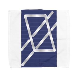 四角パターン3 Towel handkerchiefs
