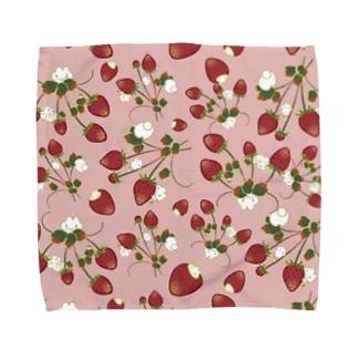 いちごうさピンク Towel handkerchiefs