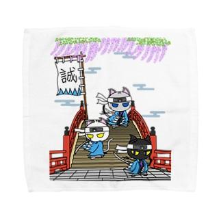 にゃーにゃー組*藤と太鼓橋で待つ! Towel handkerchiefs
