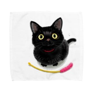 黒猫のこねこ Towel handkerchiefs