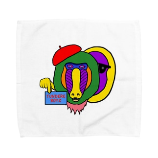 カラフルなマントヒヒで Towel handkerchiefs