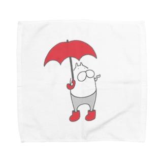 ねこタイツとくもり空 Towel handkerchiefs