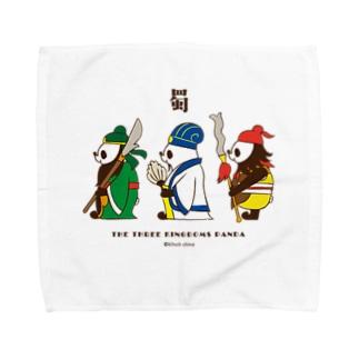 横向き三国志パンダ Towel handkerchiefs