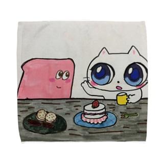 しろちゃんとふわりさん Towel handkerchiefs