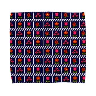 レトロフラワー Towel handkerchiefs