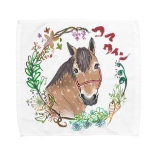 振り向きコマクイン Towel Handkerchief