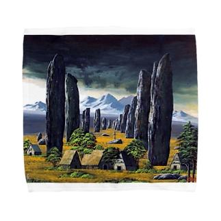カラニッシュ・石の十字架 Towel handkerchiefs
