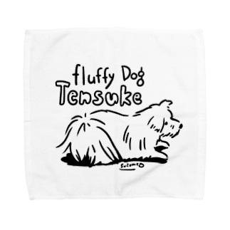 (保護犬支援)Fluufy Dog Towel handkerchiefs