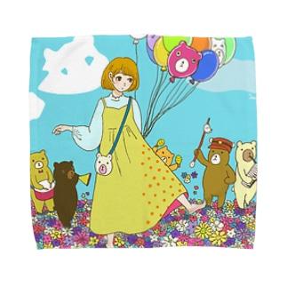 クマさん行進曲 Towel handkerchiefs